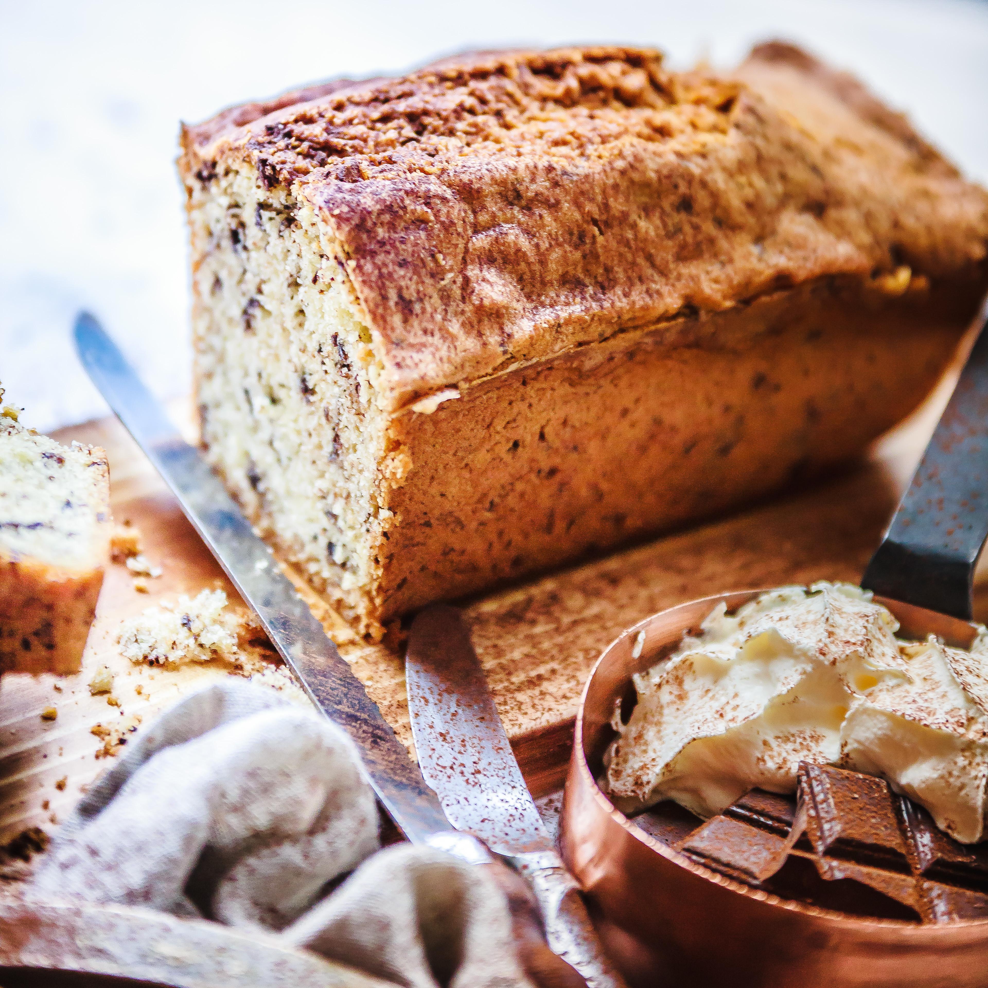 Recette Cake pur beurre aux éclats de Chocolat Photo culinaire