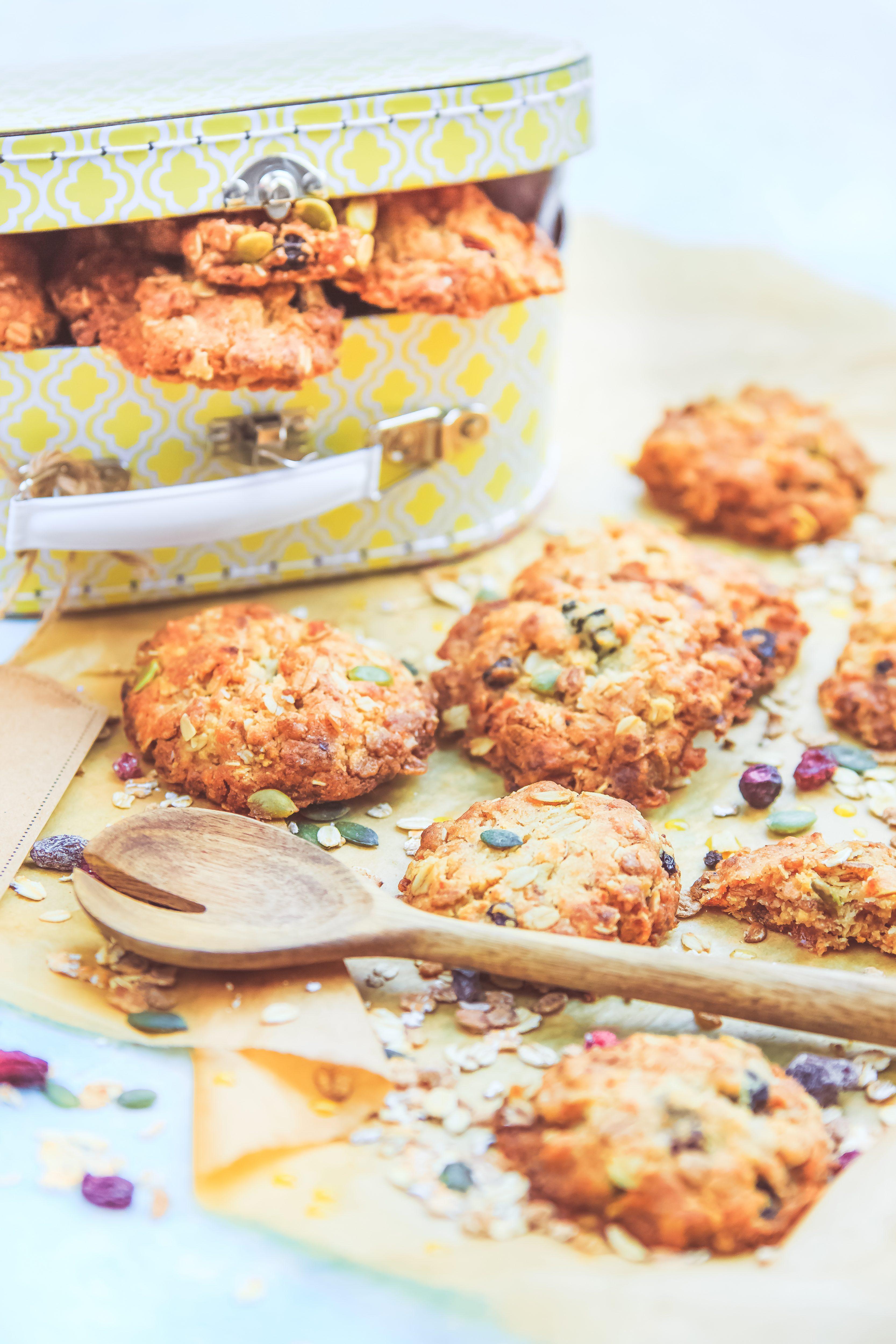 Recette facile Cookies croustillant au muesli et miel