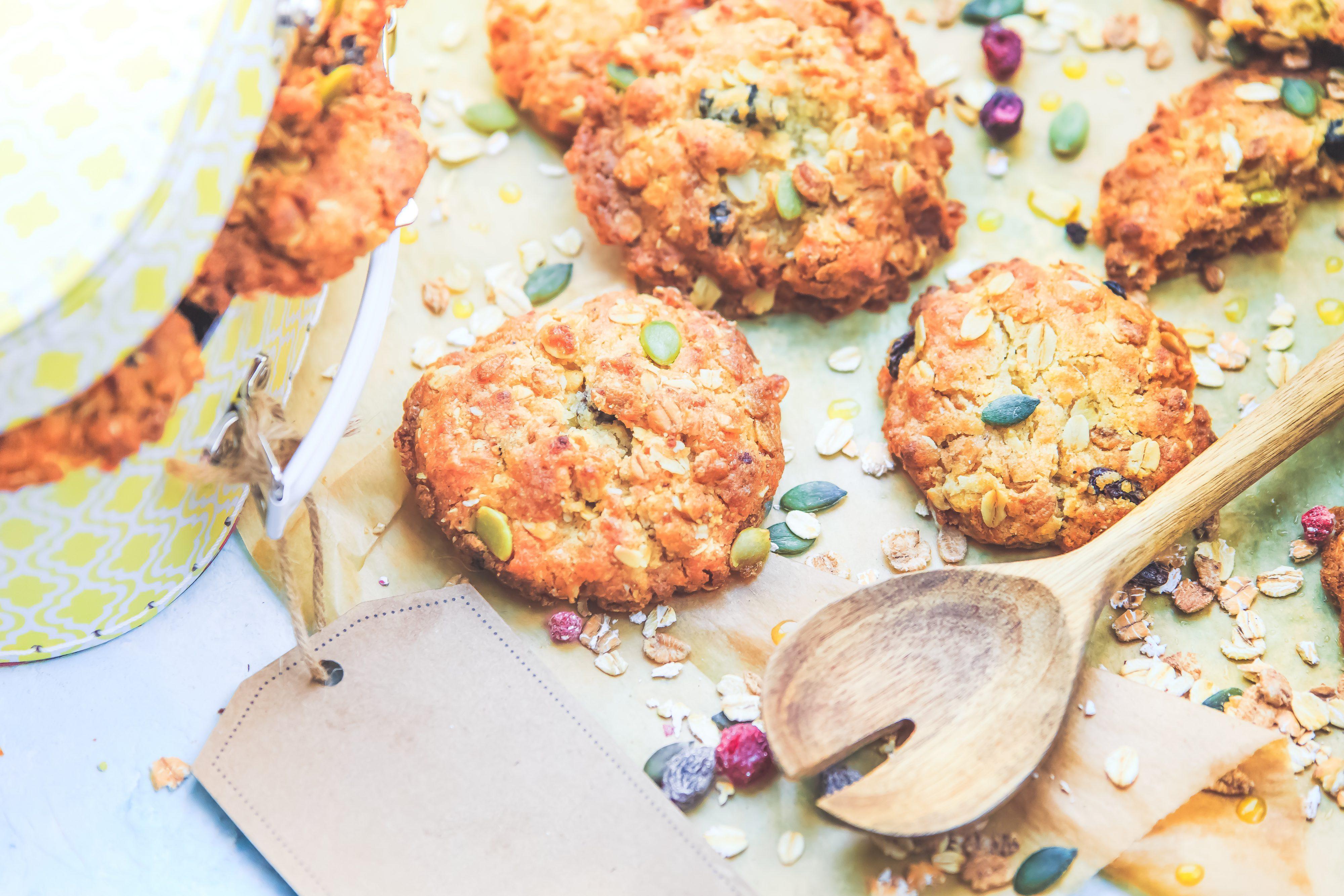 Recette facile Cookies croustillants au muesli et miel, photographe culinaire