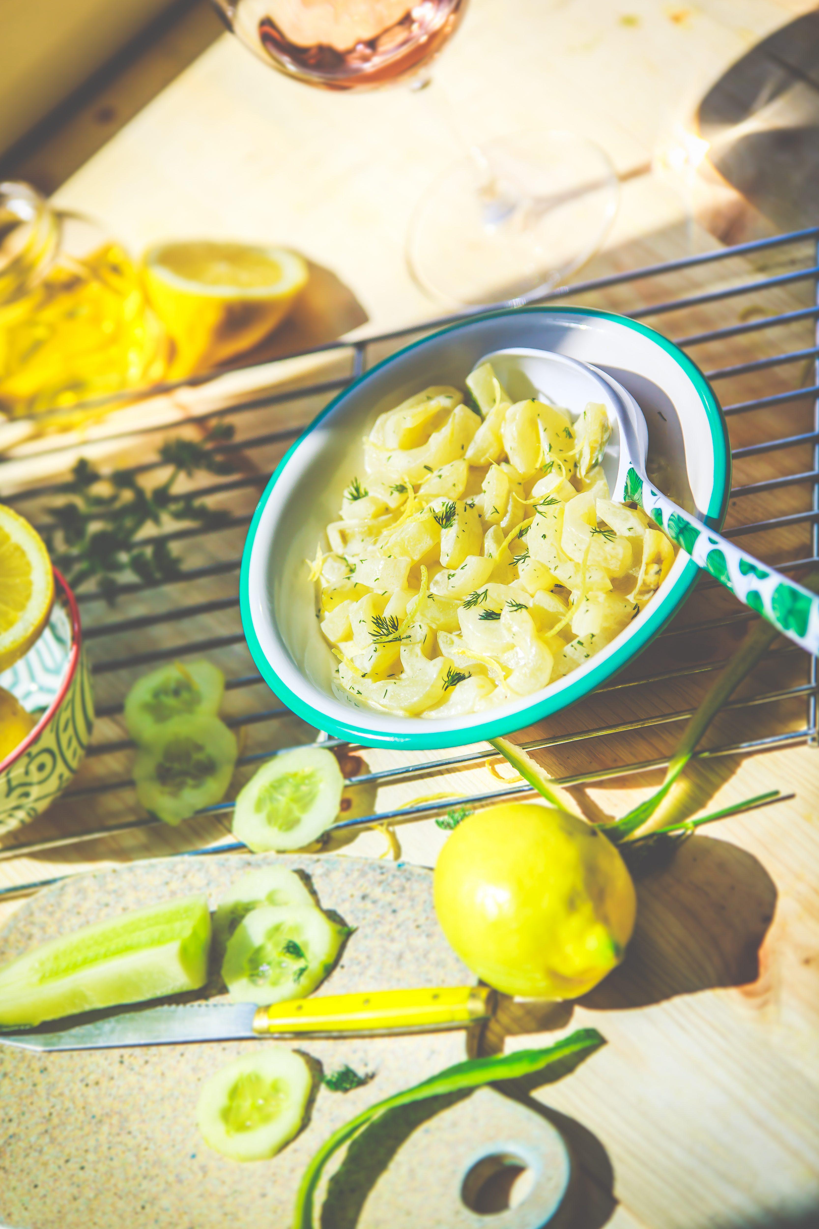 Recette Concombres cuits au miel, citron et aneth