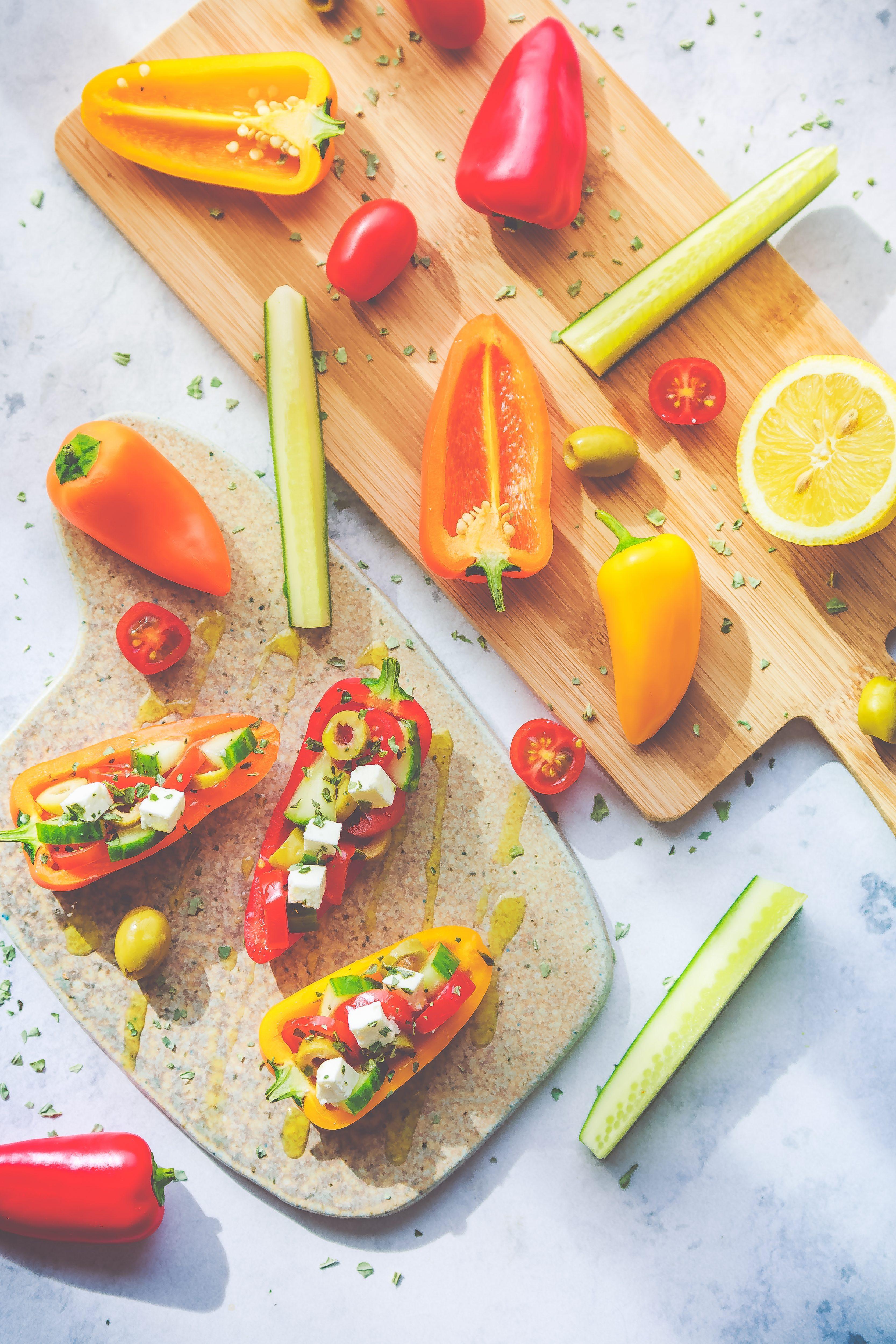 Recette facile Mini-poivrons crus et ses petites crudités