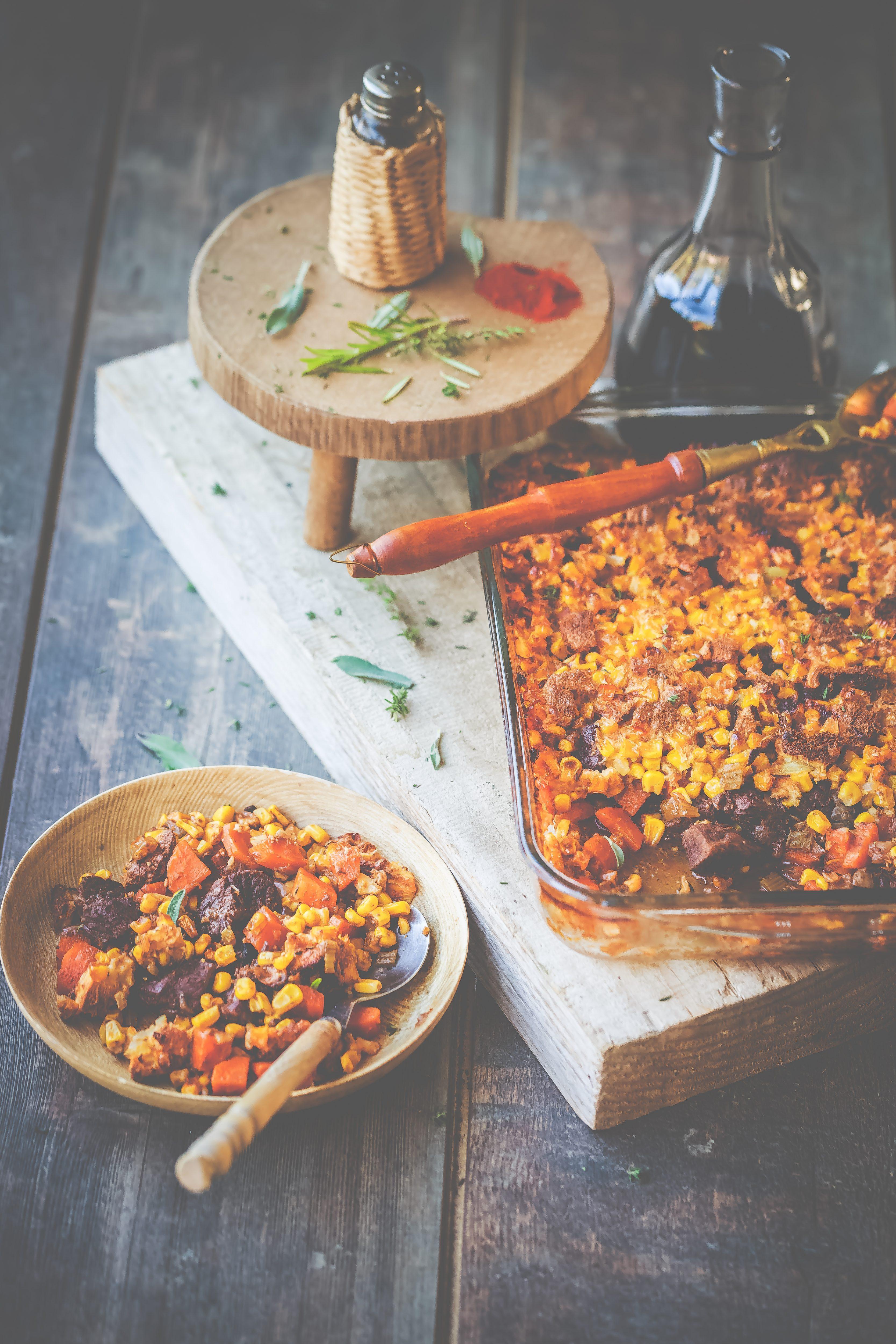 Recette facile  Boeuf-carotte en croûte de maïs