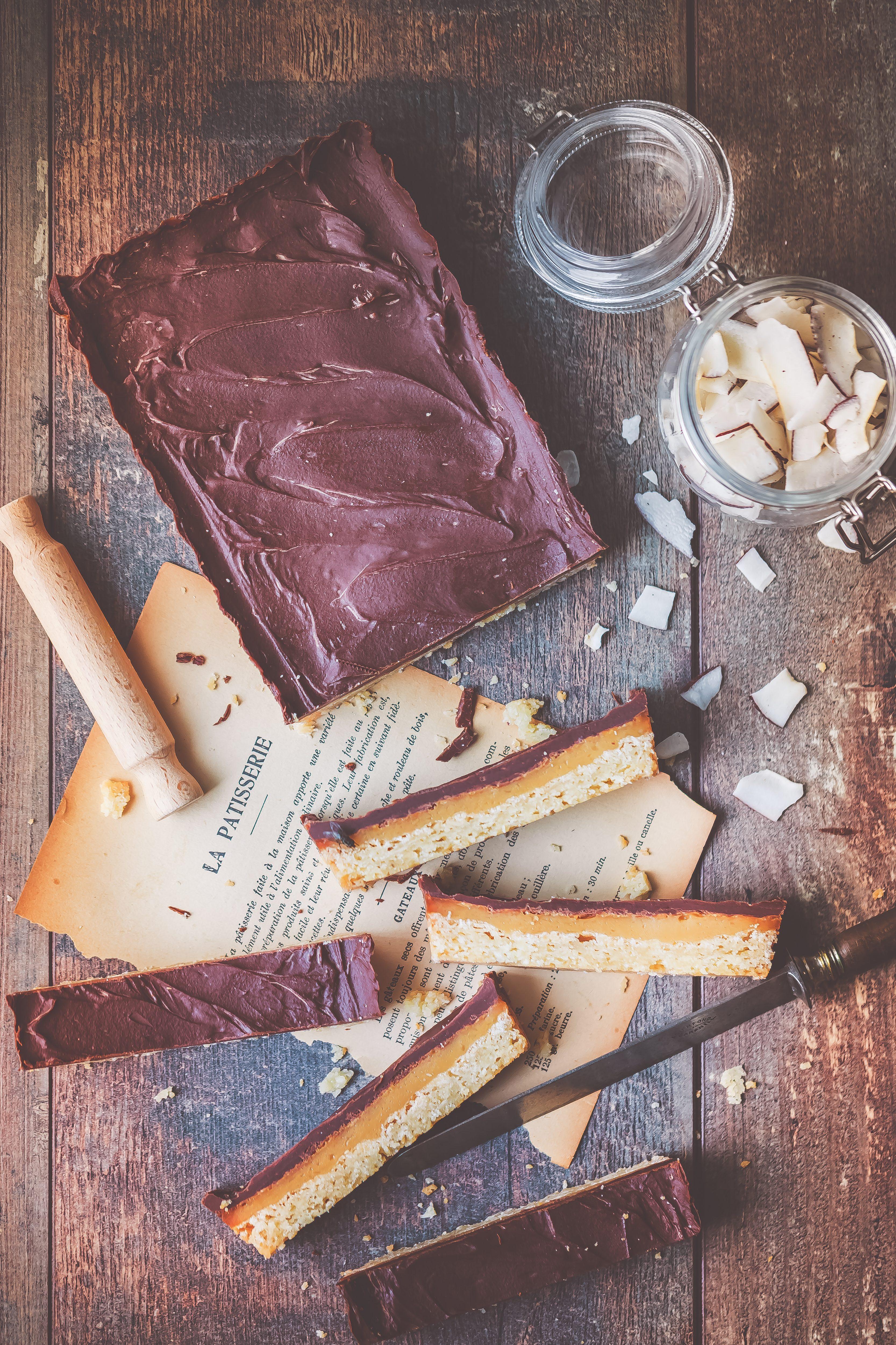 Recette facile Biscuits Coco, Caramel et Chocolat