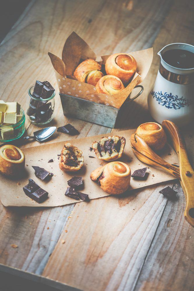 Recette Brioche feuilletée ronde au chocolat